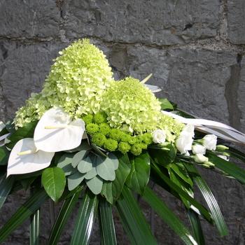 Montage mortuaire blanc & vert
