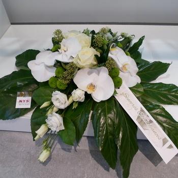 Montage mortuaire blanc et vert